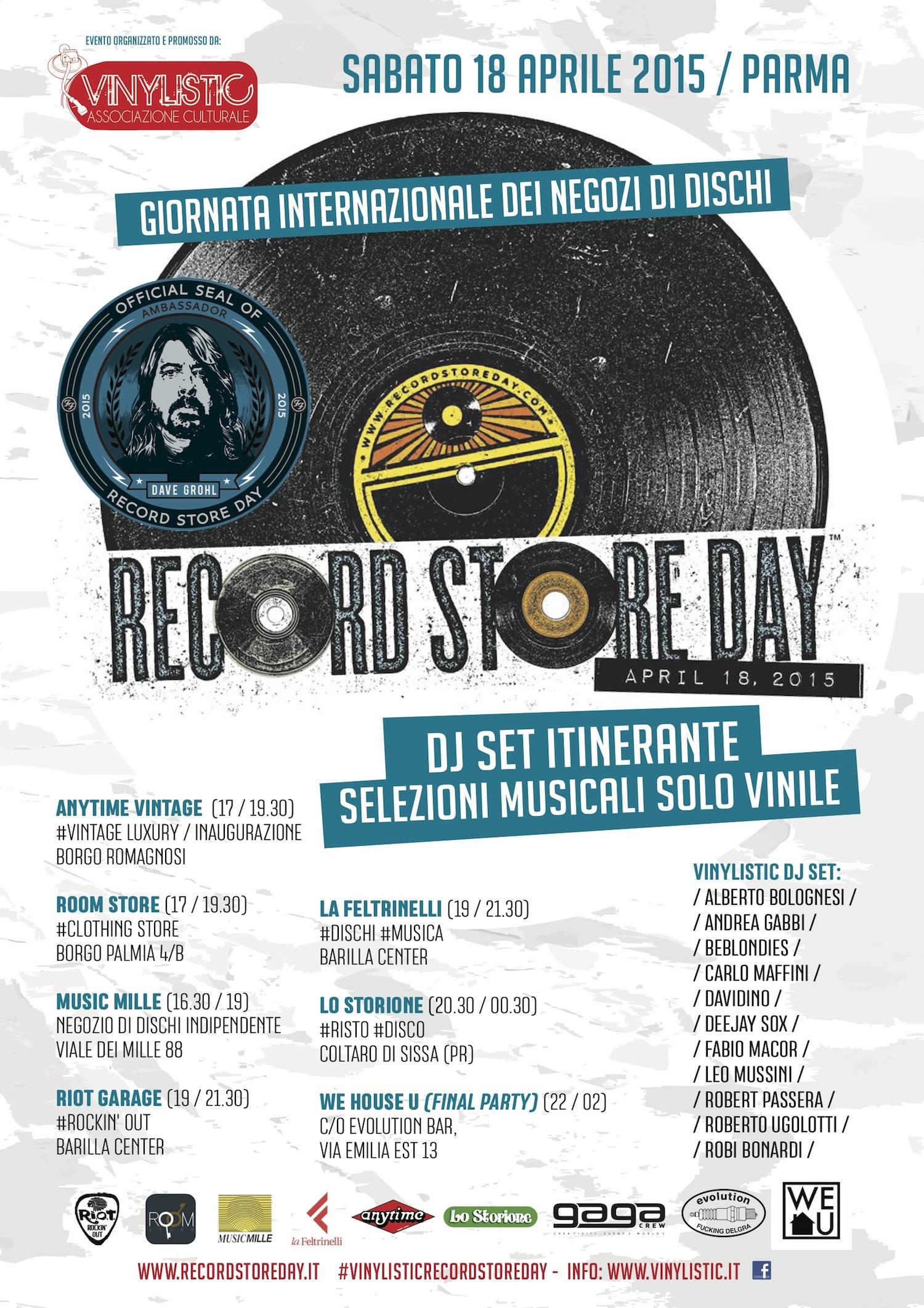 RECORD STORE DAY 2015 A PARMA, IL CALENDARIO DEGLI EVENTI