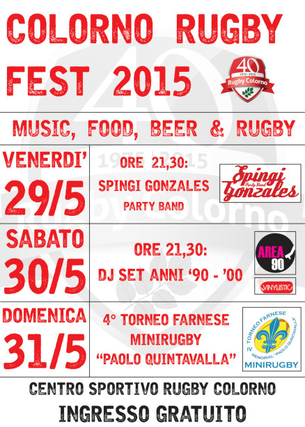 COLORNO RUGBY FEST 2015
