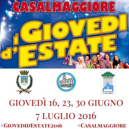 GIovedi d'estate 2016 Casalmaggiore